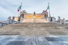 Monument of Vittorio Emanuele II in Rome at night, Italy. Archit Stock Image