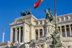 Monument of Vittorio Emanuele II in Rome Stock Photo