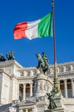 Monument of Vittorio Emanuele II in Rome Royalty Free Stock Images
