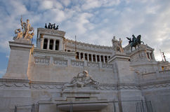 Monument of Vittorio Emmanuel II Stock Image