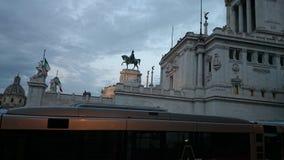 Monument Vittorio Emmanueles II in Rom stockbilder