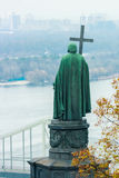 Monument of Vladimir the Great holding. Royalty Free Stock Images