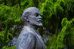 Monument of Vladimir Lenin. Druskininku, Lithuania - June 24 2015: Monument of Vladimir Lenin, soviet revolutionary, in the park stock photography