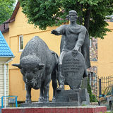 Monument of Vladimir Vasilkovich, prince of Volhynia, in Kamenet Stock Photo