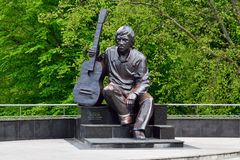 Monument of Vladimir Vysotsky. Kaliningrad, Russia Royalty Free Stock Photography