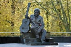 Monument of Vladimir Vysotsky in Kaliningrad, Russia Stock Photos