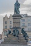 Monument von Adam Mickiewicz in Krakau Lizenzfreie Stockfotografie
