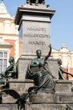 Monument von Adam Mickiewicz in Krakau Lizenzfreies Stockfoto