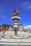 Monument von Alexander der Große, Skopje Stockfoto