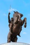 Monument von Alexander The Great - Skopje, Mazedonien Stockfoto