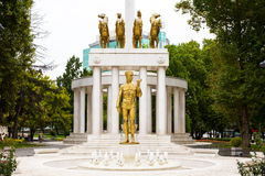 Monument von gefallenen Helden in Skopje, Mazedonien Stockfotos