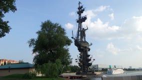 Monument von Peter das erste in Moskau Lizenzfreie Stockbilder