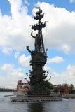 Monument von Peter I in Moskau Lizenzfreies Stockbild