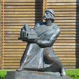 Monument von Prinzen Yaroslav das kluge nahe dem Golden Gate von Kie Stockbilder