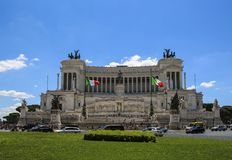 Monument von Victor Emmanuel II, Venedig-Quadrat in Rom, Italien stockbilder