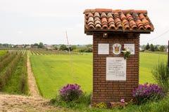 Monument votif à Vierge Marie béni Image libre de droits