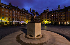 Monument in Warsaw in the morning. Royalty Free Stock Photos