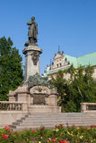 Monument Warschaus Adam Mickiewicz Stockfotos