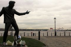 Monument in the waterfront of Liverpool, in the UK Royalty Free Stock Photos