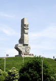 Monument on the Westerplatte of Gdansk in Poland Royalty Free Stock Image