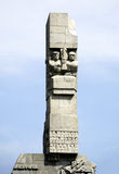 Monument on the Westerplatte of Gdansk in Poland Stock Photo