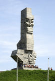 Monument on the Westerplatte of Gdansk in Poland Stock Photos