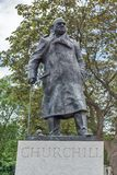 Monument of Winston Churchill at Westminster, London, England, United Kingdom stock photos