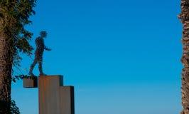 Monument of wire walking man. In Turkey, Iskenderun on the Mediterranean coast stock image