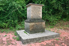 Monument withe incision Royalty Free Stock Photos