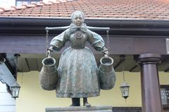 A monument of woman from Bamberg in Poznan, Poland Royalty Free Stock Photos