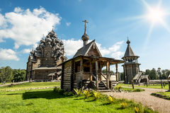 The monument of wooden architecture Pokrovsky graveyard in St. P Royalty Free Stock Image