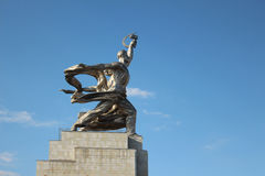The monument `The Worker and the Kolkhoz Woman` Royalty Free Stock Photo