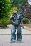 Monument Yevgeny Leonov i Moskva på den Mosfilm gatan Royaltyfria Bilder