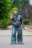 Monument Yevgeny Leonov in Moscow on Mosfilm Street Royalty Free Stock Images