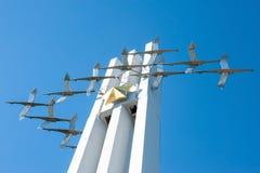 Monument Zhuravly of Kranen in Victory Park Royalty-vrije Stock Foto