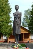 Monument Zoya Kosmodemyanskaya. Soviet partisan and a Hero of the Soviet Union awarded posthumously. She one of the most revered Stock Photos