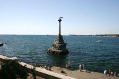 Monument zu überschwemmten Schiffen stockbilder