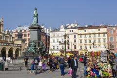 Monument zu Adam Mickiewicz in Krakau Lizenzfreie Stockbilder