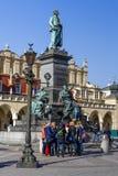 Monument zu Adam Mickiewicz, Krakau Lizenzfreies Stockfoto