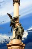 Monument zu Adam Mickiewicz in Lvov Lizenzfreie Stockbilder