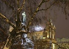 Monument zu Adam Mickiewicz Straße Nowy Swiat (neue Welt) warschau polen Stockbilder
