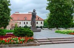Monument zu Adam Mickiewicz, Vilnius, Litauen Lizenzfreie Stockfotos