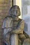 Monument zu Adam Mickiewicz, Warschau Stockfotografie