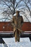 Monument zu Andrei Platonov in Voronezh lizenzfreie stockbilder