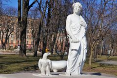 Monument zu Dante Alighieri lizenzfreies stockbild
