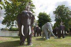 Monument zu den Elefanten, Surin-Stadt, Thailand Stockbild