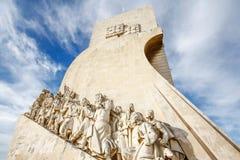 Monument zu den Entdeckungen Lissabon Portugal Stockfotos