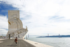 Monument zu den Entdeckungen Lissabon Portugal Stockbild