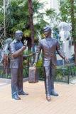 Monument zu den Helden der Komödie Diamond Arm Sochi, Russland Stockfotografie