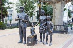 Monument zu den Helden der Komödie Diamond Arm Sochi, Russland Lizenzfreie Stockfotografie